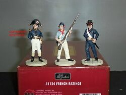 Britains 41124 Lord Nelson Battle Of Trafalgar French Ratings Sailors Figure Set
