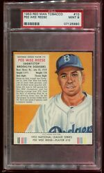 1953 Red Man #10 Pee Wee Reese with tabs PSA 9 MINT