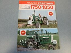 Oliver 1750 And 1850 Farm Tractor Brochure 1969