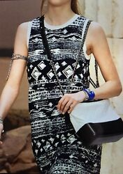 2018 CHANEL CRUISE RUNWAY 18C P58212K07623 TUNIC DRESS 36 MADE IN ITALY 100%AUTH