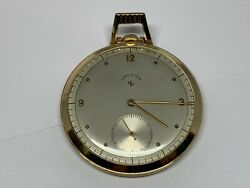Antique Lord Elgin 14k Solid Gold Pocket Watch 21 Jewels Working 84420