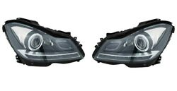 Left And Right Genuine Bi-xenon Headlights Lamps Pair Set For Mercedes W204 C300