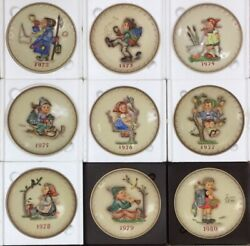Lot Of 15 Hummel Annual Collector Plates Years 1972-1982, 1984-1986, 1988