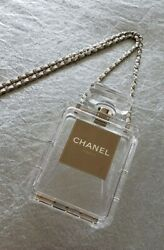 Authentic Chanel Cruise 2014 Clear Parfume Bottle Clutch