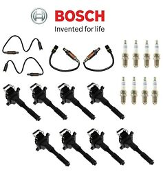 For Bmw E39 Upstream And Downstream Oxygen Sensor Spark Plugs And Ignition Coils Kit
