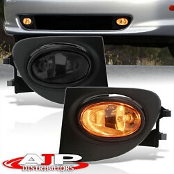 Smoke Driving Bumper Fog Lights Lamps + Switch For 2002-2005 Honda Civic Ep3 Si