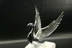 Flying Swan 40and039s 50and039s Hood Ornament Custom Hot Rod Truck Clear Wings