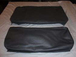 Willys Jeep Rear Seat Covers Slate Grey With Long Back For 2 3/4 Back And 5...