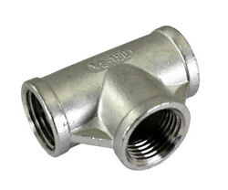 Tee, Stainless Steel Pipe Fittings Npt Sch 40 Ss Sus304