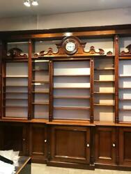 Antique Belgian PharmacyDrug Store Shelving Counters BookcasesDisplay Cases