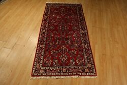 Estate 3x6 Fine Circa 1950 Exquisite Museum Handmade-knotted Wool Rug 580600