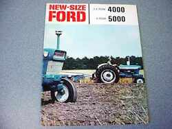 Ford 4000 And 5000 Farm Tractor Color Brochure