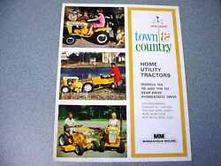 Minneapolis Moline Home Utility Tractors Color Brochure From 1968