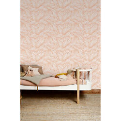 Cute Red Contour Autumn Leaves Self-adhesive Red And White Wall Mural
