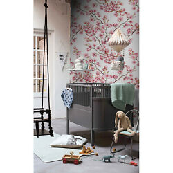 Cherry Blossom Removable Wallpaper Pink And White Wall Mural Temporary