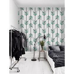 Arrow Illustration Removable Wallpaper Black And White Wall Mural Peel And Stick