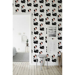 Cute Cats Renters Cats With Balloons Pattern Self Adhesive Wall Mural