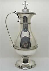 + Beautiful Ornate All Sterling Silver Flagon + 13 1/2 Ht + Chalice Co Cu511