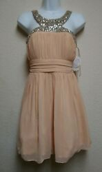 Deb Shop Peach /sequined Formal Size 3 Dress Nwt 75