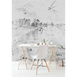 Non-woven wallpaper Swallows Home wall mural Art wall decor Wallcover Roll