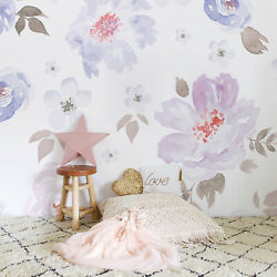 Non-woven wallpaper Pastel Floral Art wall mural Home Decor Wallcover Roll