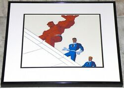 Fantastic Four 1994 Framed Original Production Cel Marvel The Thing Human Torch