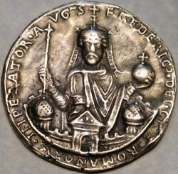 Romanov Ancient Eastern European Imperator Frederick Very Rare Large Coin/medal