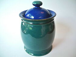 Denby Metz Covered Container Blue Green