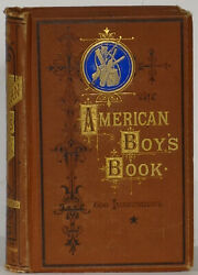 American Boy's Book 1864 First-ever Color Illustration Showing Baseball