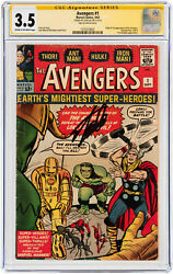 Avengers #1 CGC 3.5 Marvel 1963 Stan Lee Signature! Signed! Thor! K4 151 cm