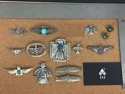 Vintage Southwestern Sterling Silver Thunderbird Lot 2 - Individually On Req.