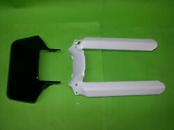 Yamaha Begarda Tt600r Tt600re Tt Racing Fork Protectors White Lamp Mask Black