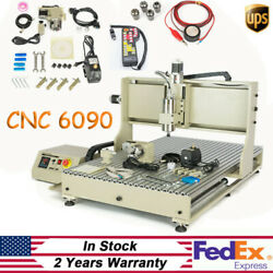 4Axis 2200W CNC 6090 Router Carving Machine Water-cooled VFD USB Engraver+RC