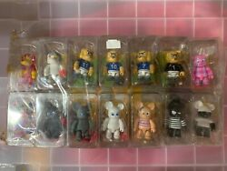 Rare 2002 Toy2r Qee Key Chain Collection Series 1 Set Of 14