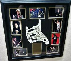 Rock and Roll Stars Multi Signed Pickguard Framed Portrait JSA Certified