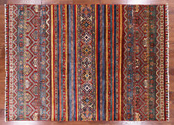 5and039 8 X 7and039 8 Khorjin Super Kazak Hand Knotted Wool Rug - Q2235
