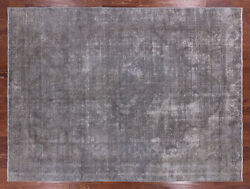 9and039 1 X 11and039 10 Overdyed Hand Knotted Wool Area Rug - Q2435