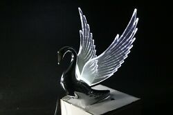 Flying Swan 40and039s 50and039s Hood Ornament Custom Hot Rod Truck Clear Wings Variety Led