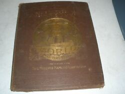 Antique 1885 Charles Lubrechtand039s Pictorial And Comprehensive Atlas Of The World