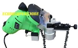 130w Electric Chainsaw Bench Grinder Chain Saw Sharpener W/ 2 Grinding Wheels