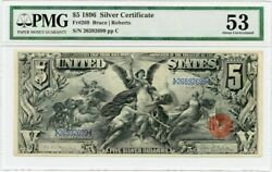 FR. 269 1896 $5 Silver Certificate PMG About Unc 53 - Popular Design