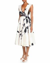 SOLD OUT Donna Karan Splatter-Brush Belted Dress sz 8 $3295