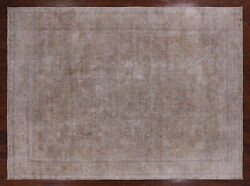 9' 10 X 13' 3 Vintage White Wash Hand Knotted Area Rug - Q2622