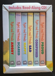 Winnie The Pooh Piglet's Feelings 6 Book Boxset First Concepts Travel Case + Cd