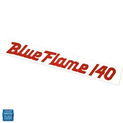 1956-1960 Impala Bel Air Blue Flame 140 Mt/at Valve Cover Decal 3729136 Dc0069