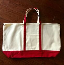 Tote Bag Large Canvas Beach Boat Tote 25quot; in Red $15.95