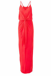 Slate & Willow Coral Pink Women's Size Large L Twist Front Maxi Dress $138- #904