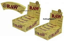 2x Full Boxes Raw Rolling Paper Maestro Cone Tips Natural Unrefined Cotton Andhemp