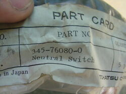New Tohatsu Outboard 345-76080-1 345760801 Neutral Safety Switch  J8-9