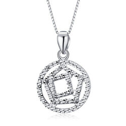 Real Pt950 Platinum Pendant Girl Womanand039s Square Geometric Birthday Gift /2.85g